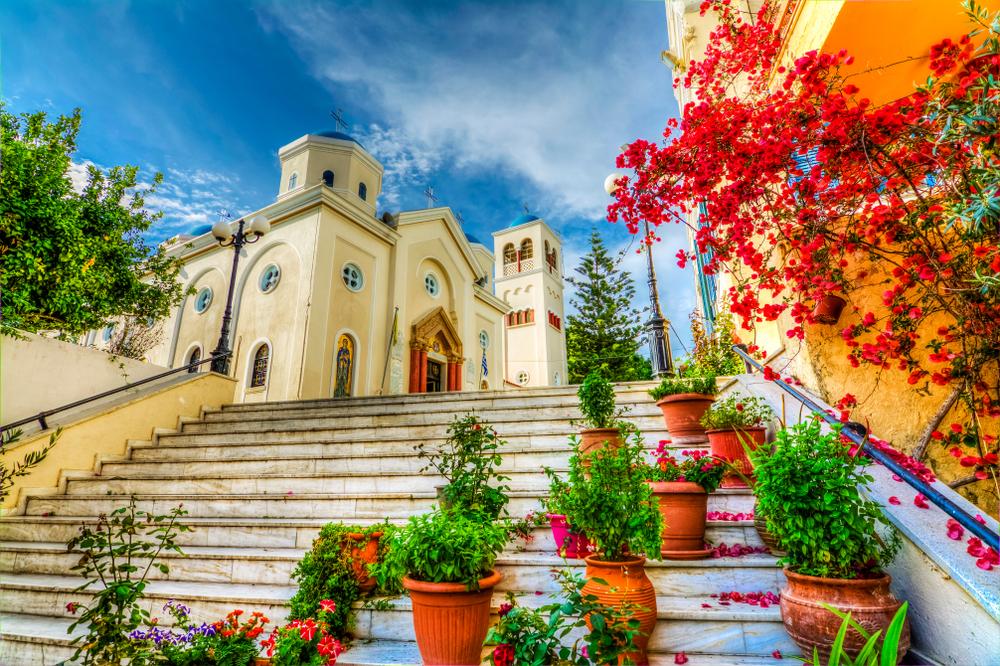 Řecko, ostrov Kos, ulice v hlavním městě ostrova